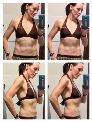 This is how I'll take front and side photos to show close-up progress - consider this my mid-program progress photo!